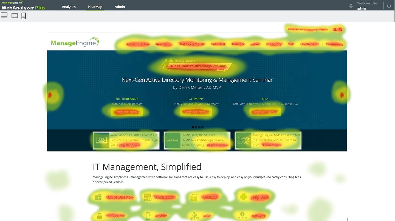 heat map manageengine