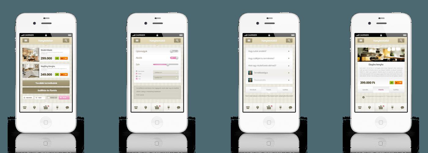 konyha Mobil alkalmazások