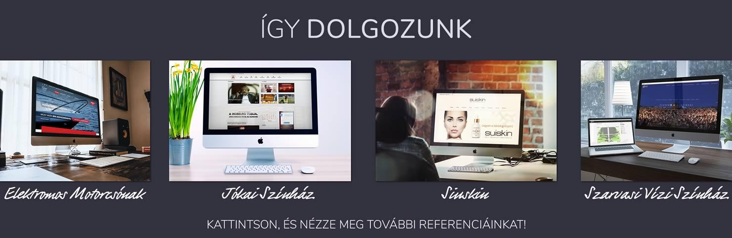Weboldal készítés referenciák